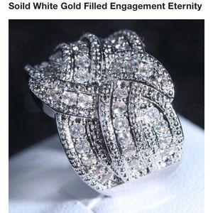 Jewelry - Sz 8 Cubic Zirconia Wedding Band